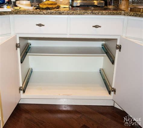 kitchen cabinet sliding shelf 1000 ideas about slide out shelves on pinterest pull