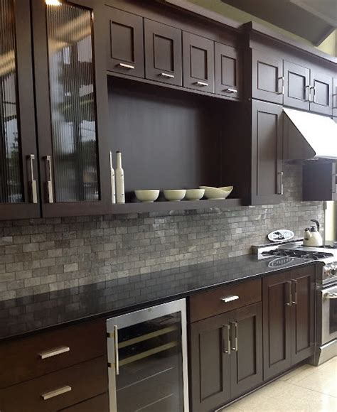 grey backsplash with cherry cabinets color forte august 2015