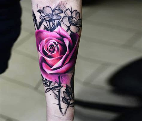 dark red rose tattoo designs inspiration mens craze