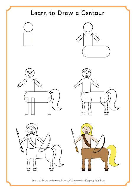 learn how to build a house step by step learn to draw centaur