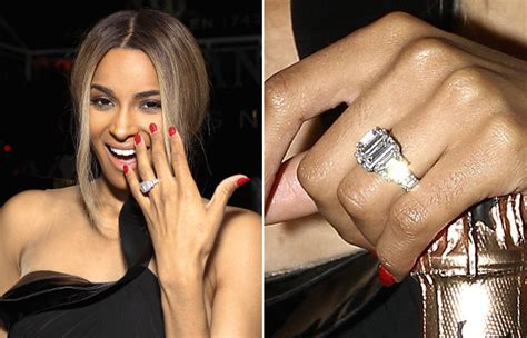 a big photo for a big rock see ciara s engagement ring