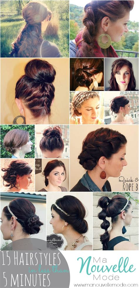 hairstyles you can do in 5 minutes 15 hairstyles you can do in less than 5 minutes ma