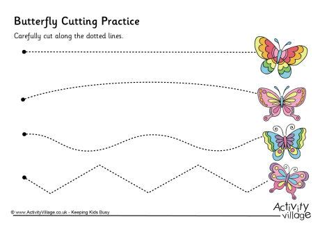 printable practice cutting sheets cutting practice worksheets for preschool cutting