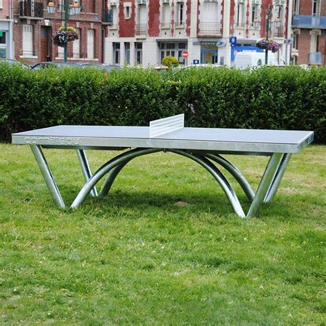 outdoor table tennis cornilleau park permanent static outdoor table tennis table