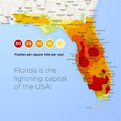 lightning map florida thunderstorms and lightning florida climate