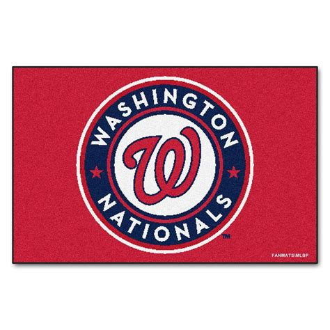 Kitchen Faucets Kansas City Fanmats Washington Nationals 19 In X 30 In Accent Rug