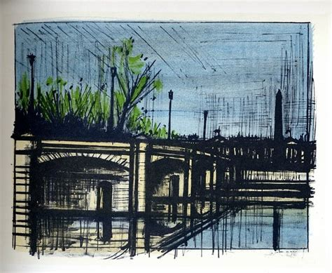 bernard buffet lithograph reproduction paris le pont