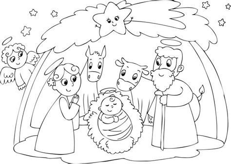 dibujos de navidad para colorear del nacimiento de jesus nacimientos de navidad para colorear vix