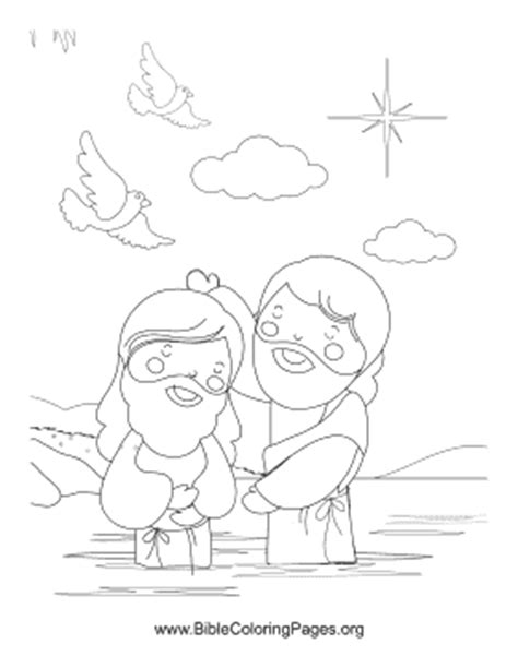 the baptist coloring page the baptist coloring page