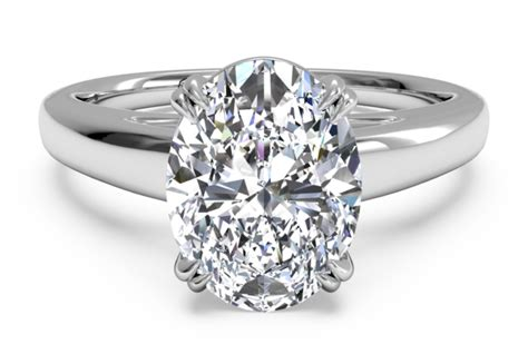 tulip cathedral platinum solitaire engagement ring