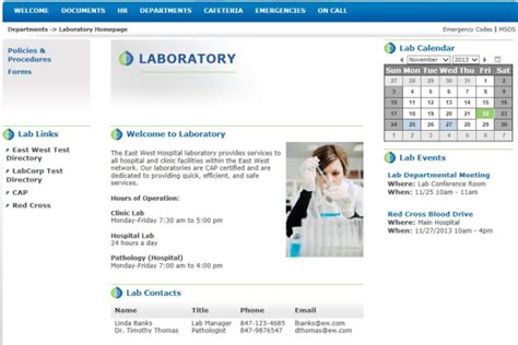blogger templates for hospital simplify intranet implementation with departmental templates