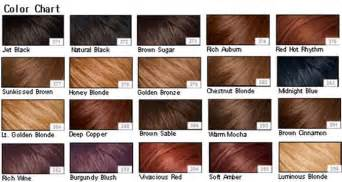 color chart for hair which color hair babygaga