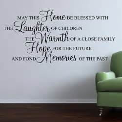 Quote Wall Sticker May This Home Be Blessed Wall Stickers Quote By Parkins