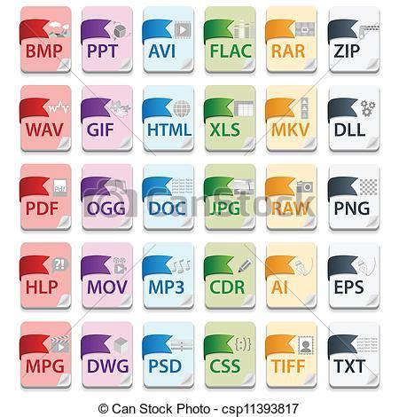 imagenes vectoriales extensiones vector clip art de documento extensiones archivo