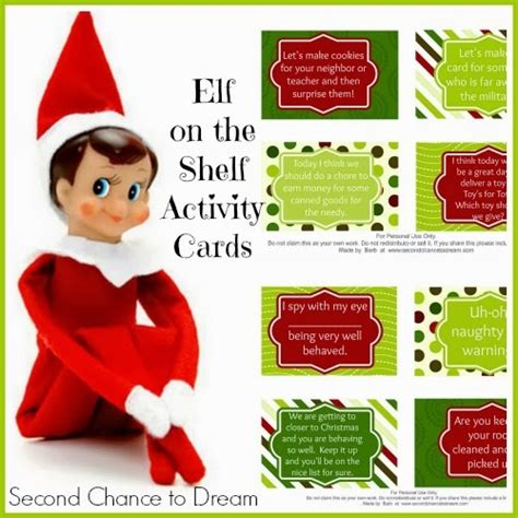 free printable elf on the shelf activities free printable elf on the shelf activity cards with a