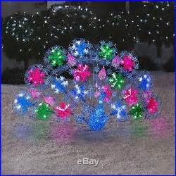 christmas lightshow lighted peacock 5 ft prop decoration