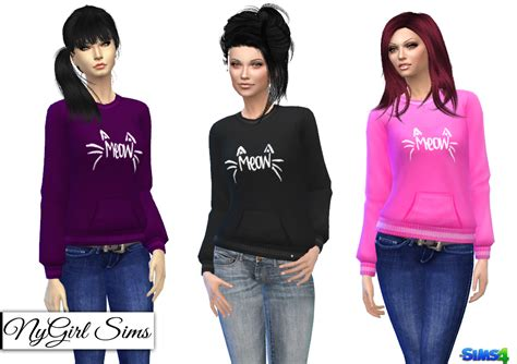 Sweater Cc nygirl sims 4 cat s meow sweater