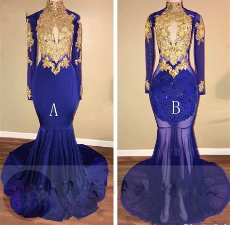 best 20 royal blue and gold ideas on pinterest prince royal blue gold appliques mermaid prom dresses long 2017