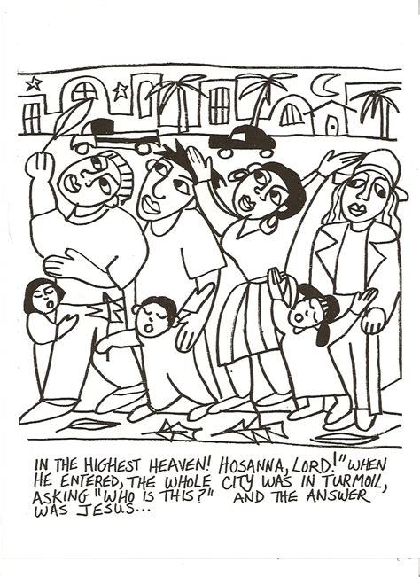 Pin Palm Sunday Coloring Page Jesus On A Donkey On Palm Sunday Coloring Page