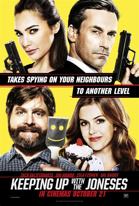 keeping up with the joneses new poster for spy comedy keeping up with the joneses