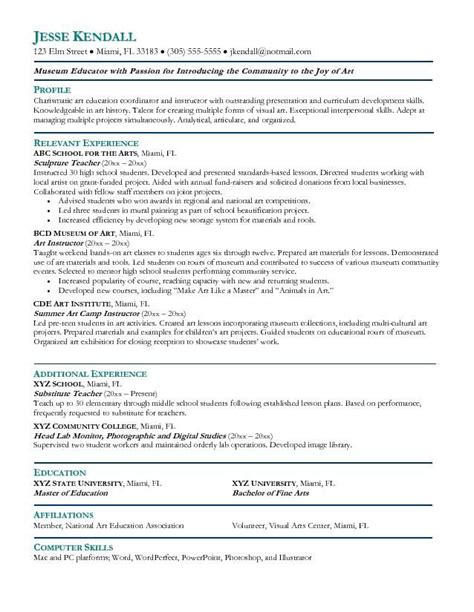 art resume template 15 best resume templates images on