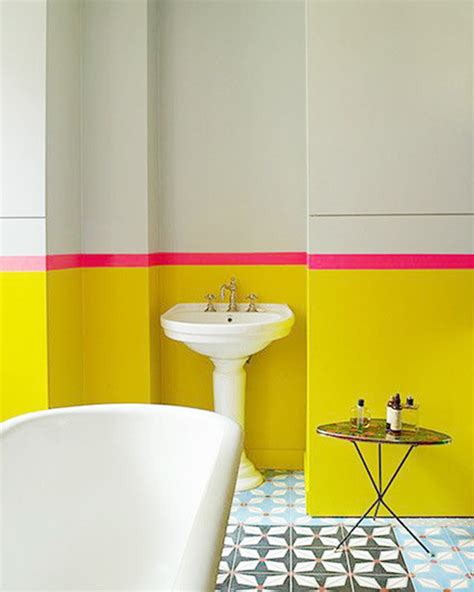 bright yellow bathroom interior obsessions 7 ways to steal my sunshine paper