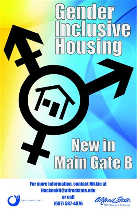 Alfred State Calendar Gender Inclusive Housing Alfred State