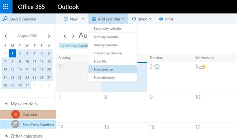 Office 365 Outlook How To Calendar Calendar Sync Birchpress