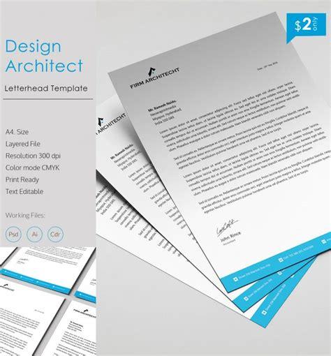 unique design architect letterhead template