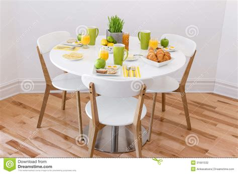 table with tasty breakfast stock photography