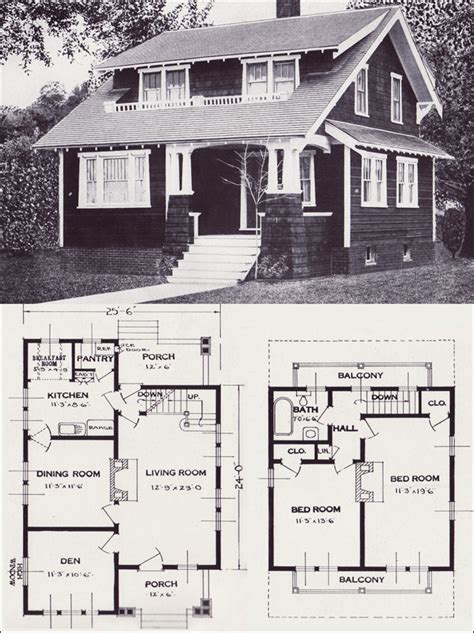 Vintage Craftsman House Plans by Vintage Craftsman Style Home Plans