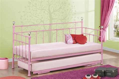 trundle bed for girls kids daybed with trundle girls and boys pink or cream