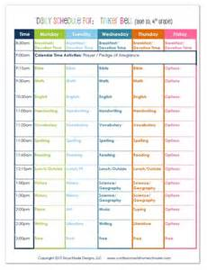 2015 4th grade homeschool schedule confessions of a