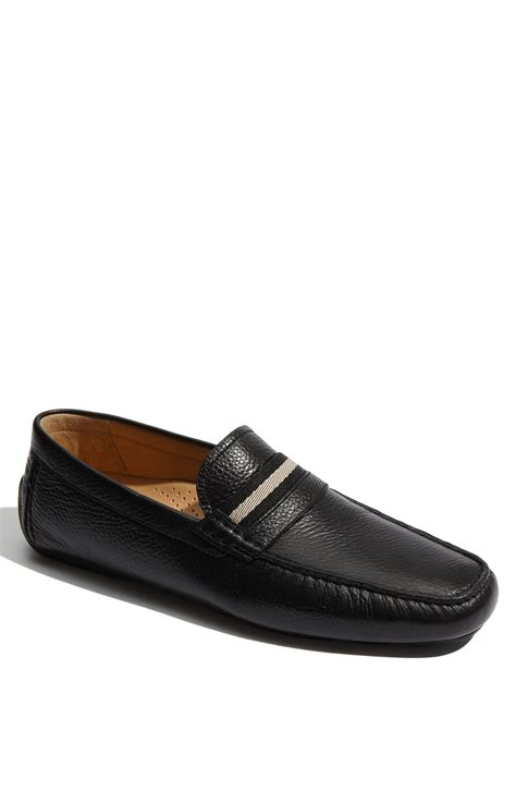 Sepatu Loafers Bally Suede Black 1 Bally Trainspot Croc Embossed Leather Driving Loafers In
