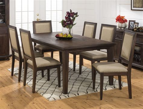 Rustic Extendable Dining Room Tables Geneva Rustic Brown Extendable Rectangular Dining