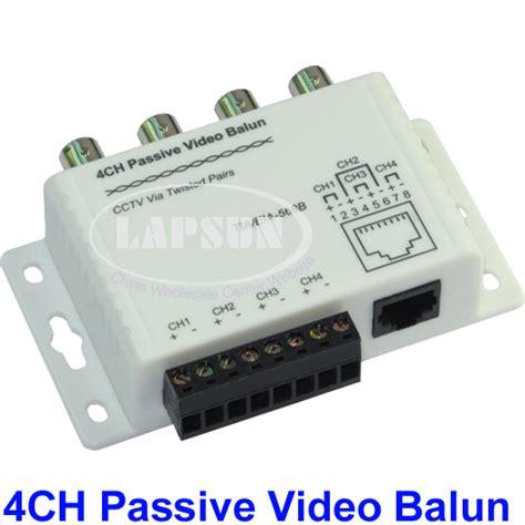 Cctv Per Unit utp 4 channel ch passive balun to cat5 rj45 4 bnc