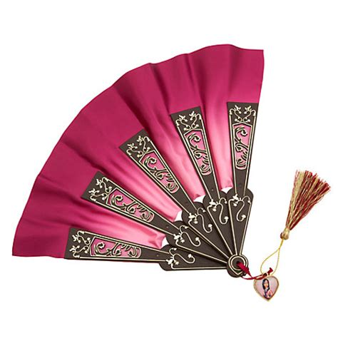 Set Mulan Maron Disney Store Authentic Princess Mulan Fan Dress Up Costume