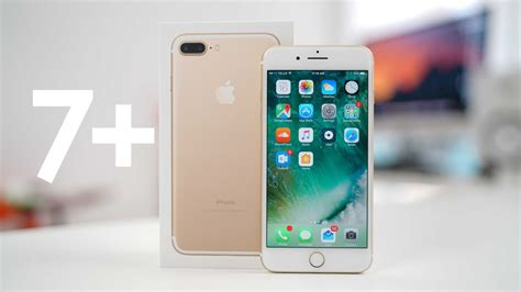 iphone 7 plus gold unboxing and setup