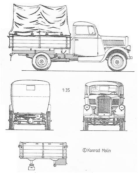 opel truck opel blitz truck 1940 blueprint download free blueprint