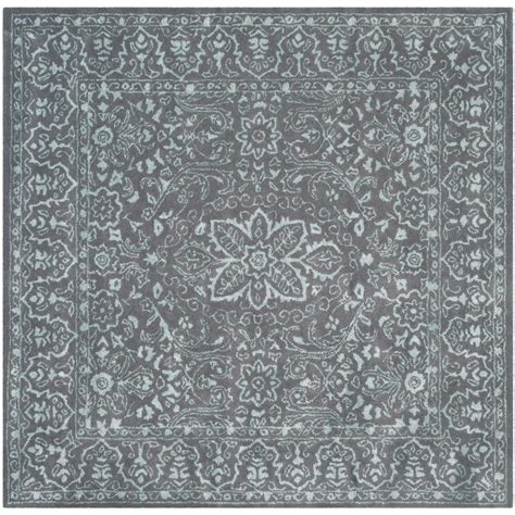 6 foot square rug safavieh opal gray 6 ft x 6 ft square area rug glm516c 6sq the home depot