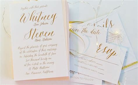 Wedding Invitations Simple by Simple Wedding Invitation Gold Wedding Invitations 5