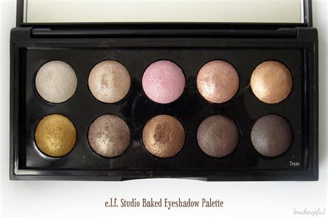 Eyeshadow E e l f studio baked eyeshadow palette review makeupfu