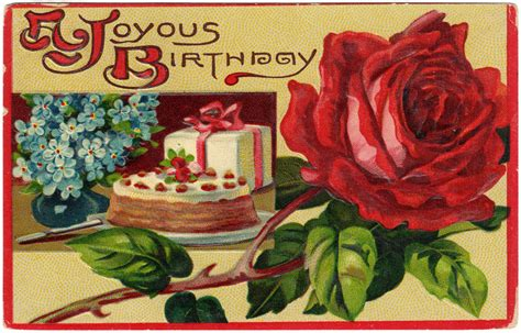 Birthday Cards To Post On Free Birthday Cards On Pinterest Vintage Birthday Cards