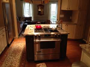kitchen island with built in stove contemporary