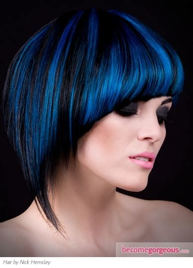 Black And Blue Hairstyles by Pictures Hairstyles Black Hair And Blue