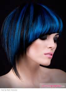 black and blue hair color pictures hairstyles black hair and blue