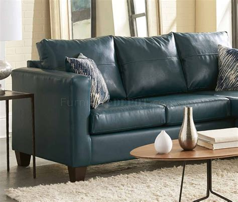 teal leather sectional sofa 3007 sectional sofa in teal bicast