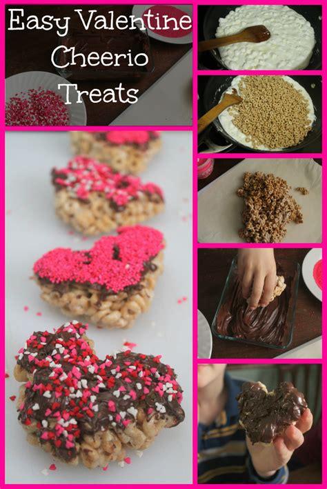 easy valentines treats and easy cheerio treats for