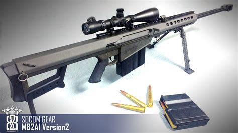 Airsoft Gun Sniper Barret M107 airsoft review socom gear barrett m82a1 m107 version 2 madbull subtitle
