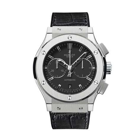 Hb Bigbang Vendome Silver Black Leather For hublot classic fusion titanium chronograph s 521 nx 1170 lr king jewelers